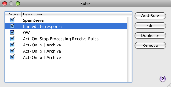 The Preferences window for my version of Mail